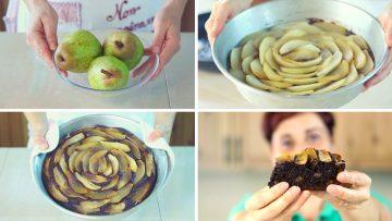 TORTA-SOFFICE-PERE-amp-CIOCCOLATO-Ricetta-Facile-Dark-Chocolate-Pear-Cake-Easy-Recipe-attachment