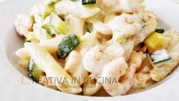 Penne-zucchine-e-gamberetti-con-panna-Ricetta-di-Creativaincucina-attachment