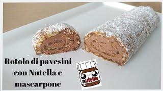 Dolce-senza-cottura-Rotolo-di-pavesini-con-Nutella-e-mascarpone-dolce-facile-e-veloce-attachment